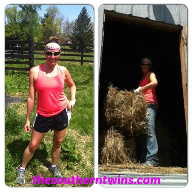Running and Stacking Hay!