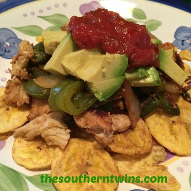 Guilt Free Chicken Fajita Nachos